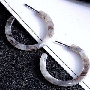 Jewelry - Tortoiseshell Acrylic Hoop Earrings